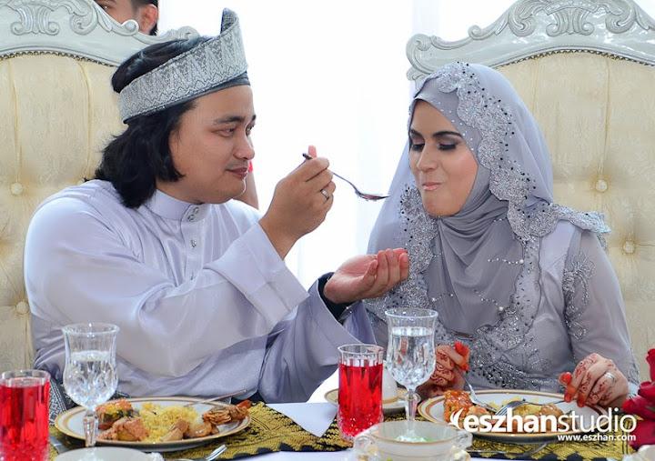 Gambar kahwin Ana Raffali dan Naim