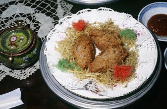 Photo: 04633 広州市/絆渓酒家/点心/蜂巣香芋角/豚肉のタロイモ包み揚げ
