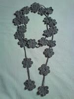 Cordão Floral em Crochê - Inverno