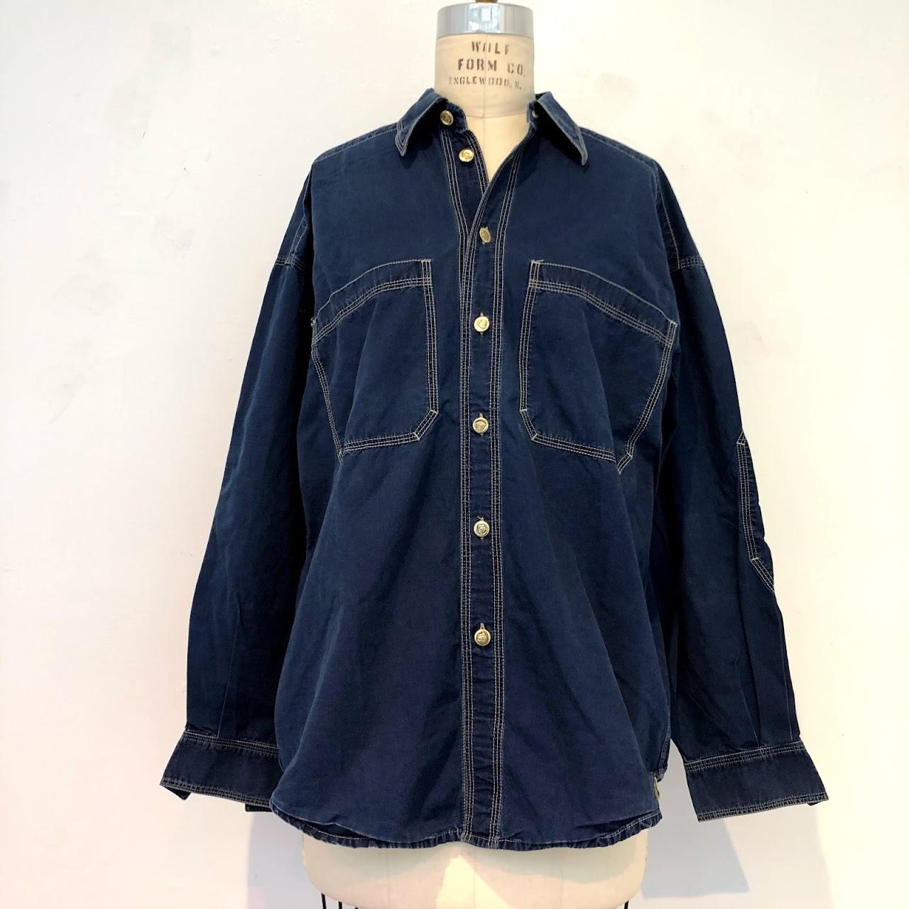 724e2163 Versace Jeans Couture Lightweight Denim Shirt | Shophousingworks