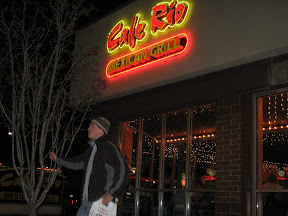 I was in SLC for six days, and I ate here thrice. No, I didn't always pose like that.