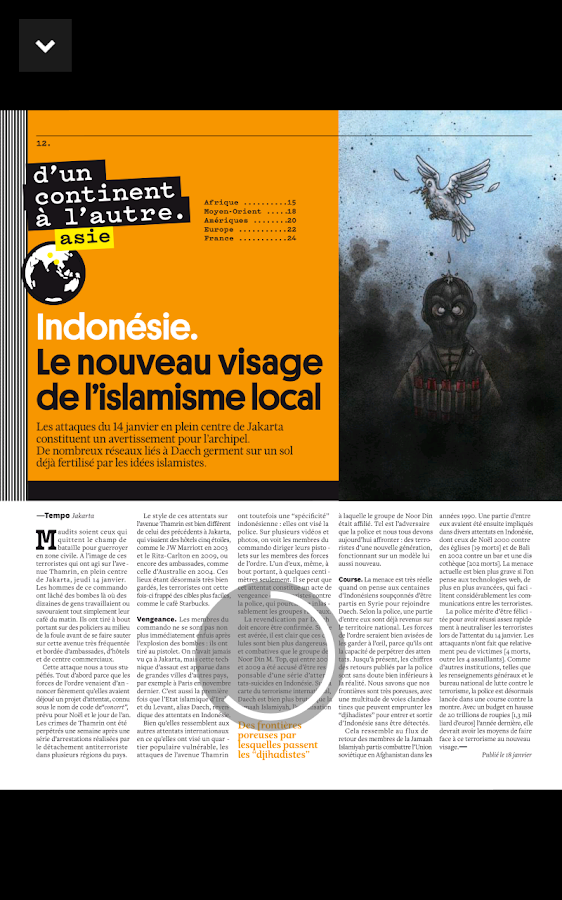 Courrier international - Mag – Capture d'écran