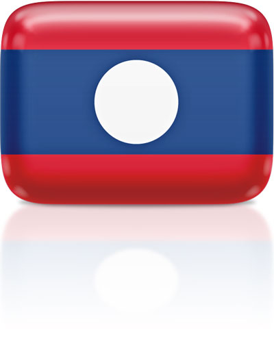 Lao flag clipart rectangular