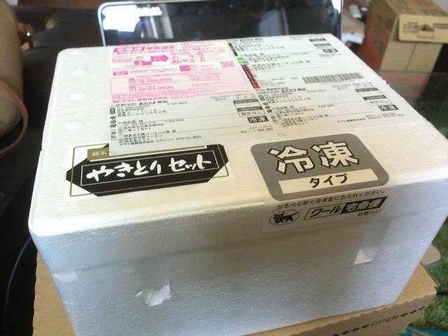 焼き鳥の通販純系名古屋コーチン開封の儀 梱包状態