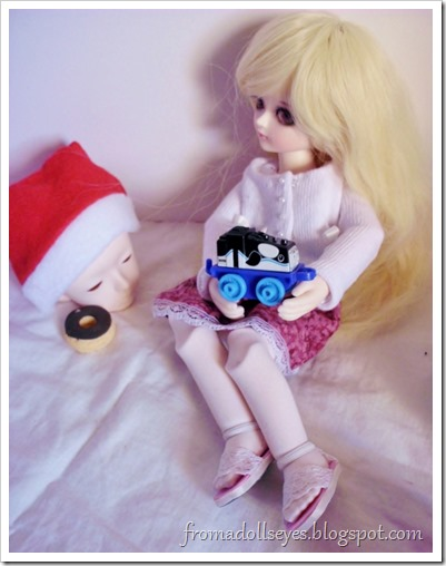 Dolls and blind bag toys. Trains!
