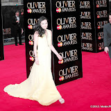 WWW.ENTSIMAGES.COM -    Lara Pulver    at      The Olivier Awards at Royal Opera House, Covent Garden, London, April 28th 2013                                               Photo Mobis Photos/OIC 0203 174 1069