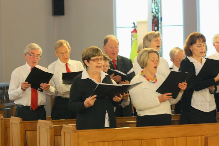Members of the Evensong Singers in good voice