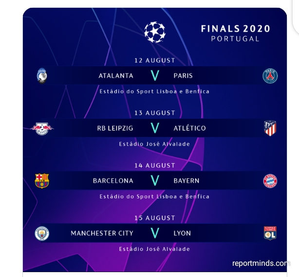 2019 2020 uefa champions league quarter final games schedule report minds 2019 2020 uefa champions league quarter