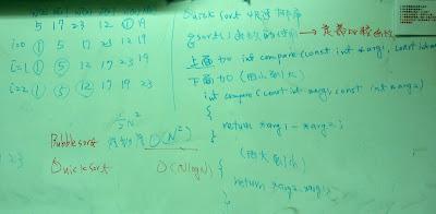 使用qsort()函數