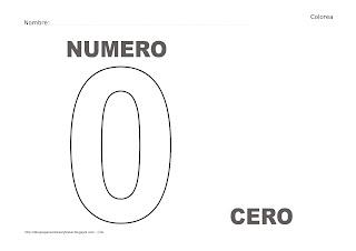 Dibujo del número cero para colorear y pintar