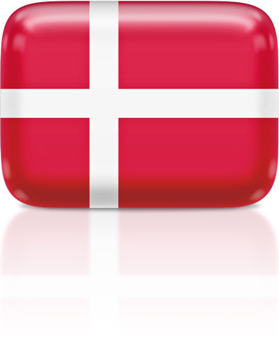 Danish flag clipart rectangular