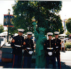 Statue of Liberty with the Marines at the US Open in Flushing Meadow