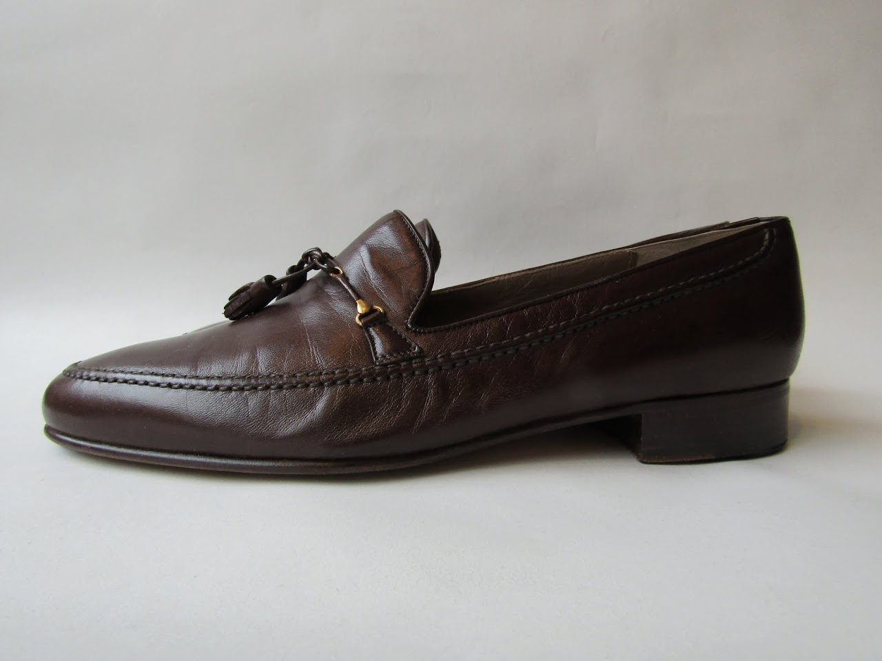 Vintage Bally Chocolate Brown Tassel Loafers