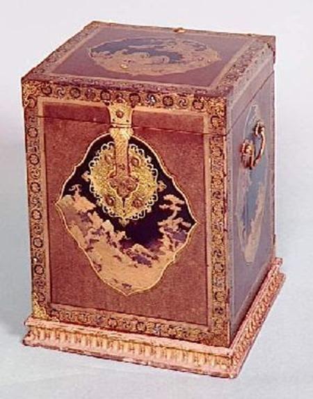 Versailles_chaise-d-affaires Caja de silla-orinal con lacas de Japón, de inicios del siglo XVIII (Antigua Colección Real Francesa).
