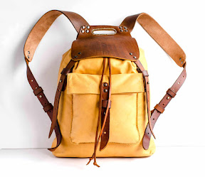 leather backpack handmade № 151-RBM