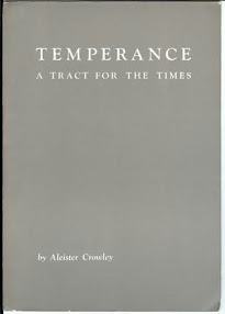 Cover of Aleister Crowley's Book Temperance A Tract For The Times