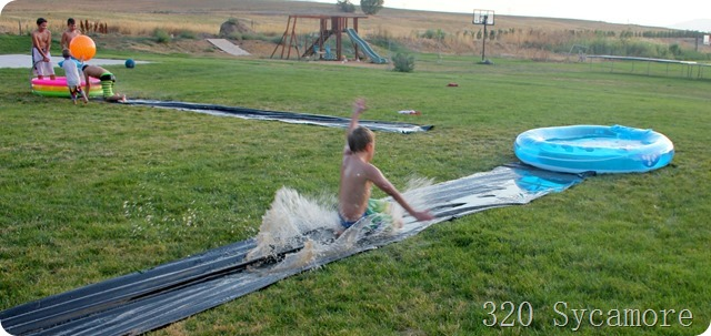 slip slide with pools