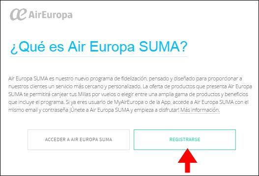 Abrir mi cuenta Air Europa - 708