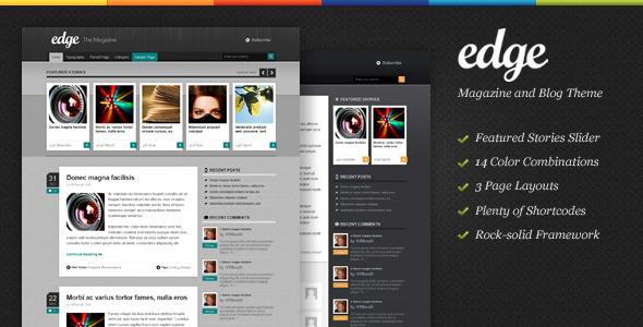 Themeforest Themeforest Edge - Magazine & Blog WordPress Theme v1.2