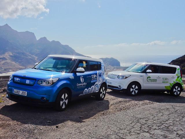 Primera vuelta completa a Gran Canaria en coches 100% eléctricos sin repostar