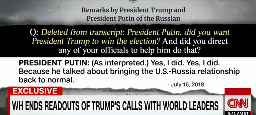 Putin admits helped Trump get elected