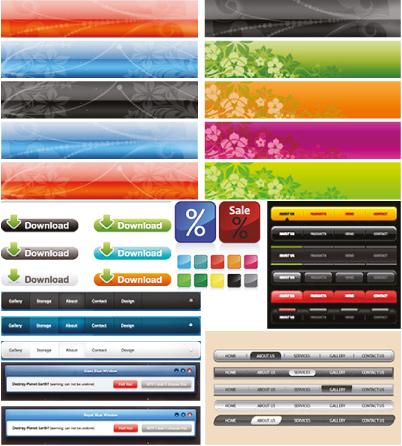 Элементы вэб-графики: банеры, кнопки, меню