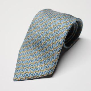 Hermès Sea-Foam Print Tie
