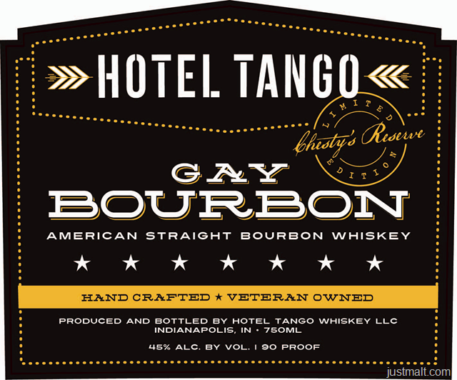 Hotel Tango - Gay Bourbon American Straight Bourbon Whiskey