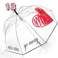 guarda-chuva transparente com coração