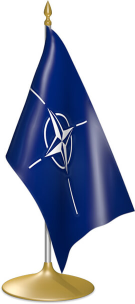 NATO table flags - desk flags