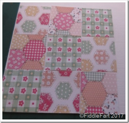 Patchwork birthday card.