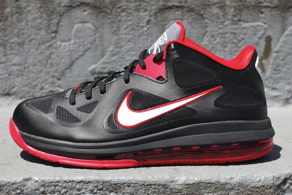 Nike LeBron 9 Low 8211 Black  White  Red 8211 Available