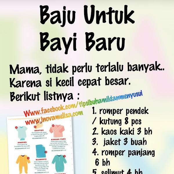 Kebutuhan Baju Untuk Bayi Baru