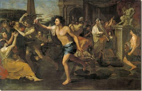 Andrea Camasseiː Fiestas Lupercales, óleo sobre lienzo