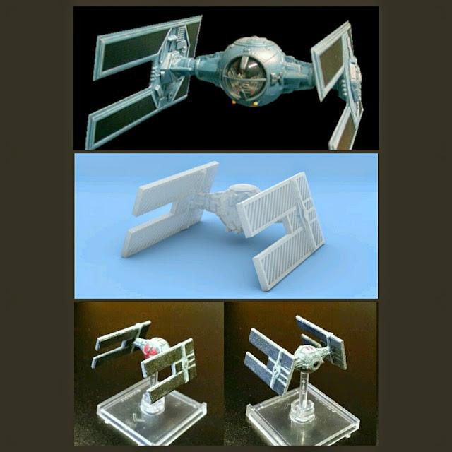 Tie Droid de Mel Miniatures