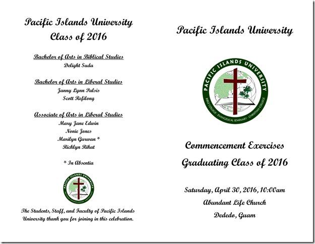 Graduation Program 2016-1