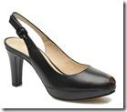 Unisa Black peep toe platform slingback court