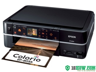 How to reset flashing lights for Epson EP-803A printer
