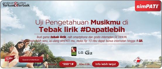 Tebak Lirik simPATI dan Menangkan LG Optimus G2!