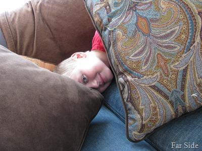 Adam hiding from Grandma