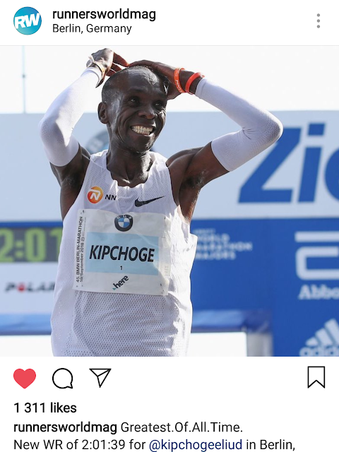 All your best efforts will reward you in the end! #kipchoge