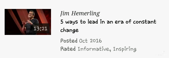 Jim Hemerling ; 5 ways to lead in an era of constant change