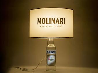 Lampade bottiglie promozionali sambuca molinari