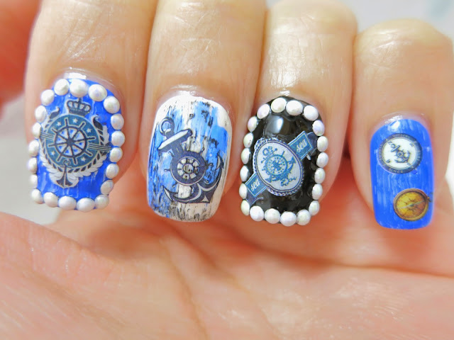 Haunted Pirate Ship Water Decal Nail Art BOP169
