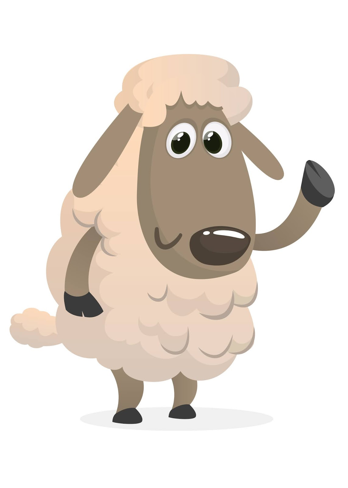 Cartoon Sheep Illustration Free Download Vector CDR, AI, EPS and PNG Formats