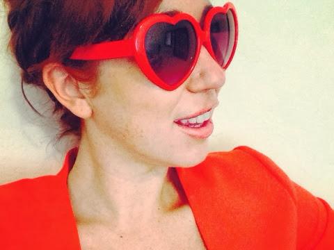 Red Heart Glasses