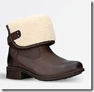 UGG Wool Cuff Leather Boots