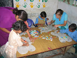 PVs help with Art class in the primary school