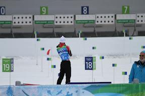 Canadian skiier practice shooting
