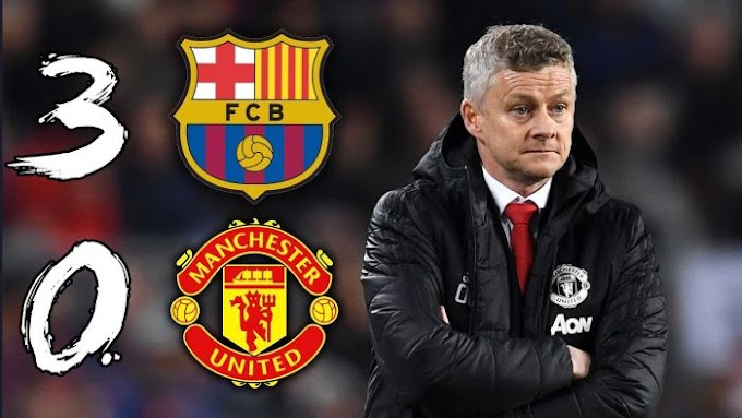 TOO BAD! Man United Set New Record After 3 – 0 Loss To Barcelona